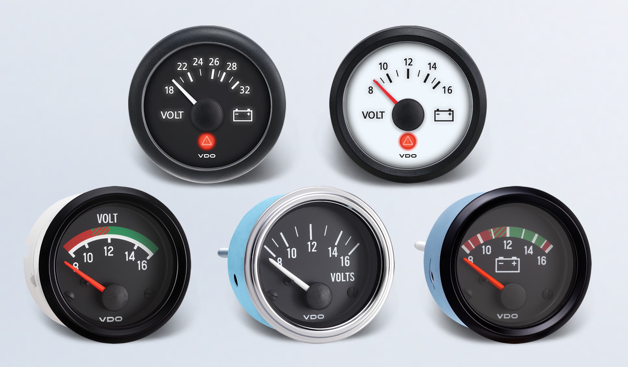 voltmeter by type instruments displays and clusters vdo rh vdo instruments com Boat Fuel Gauge Wiring Diagram Fuel Gauge Wiring Diagram