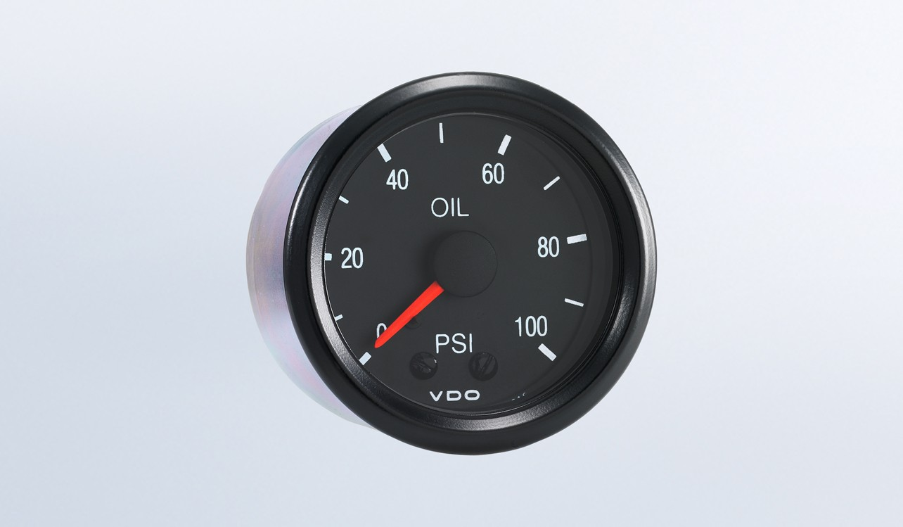 Cockpit 100 Psi Mechanical Oil Pressure Gauge With Tubing