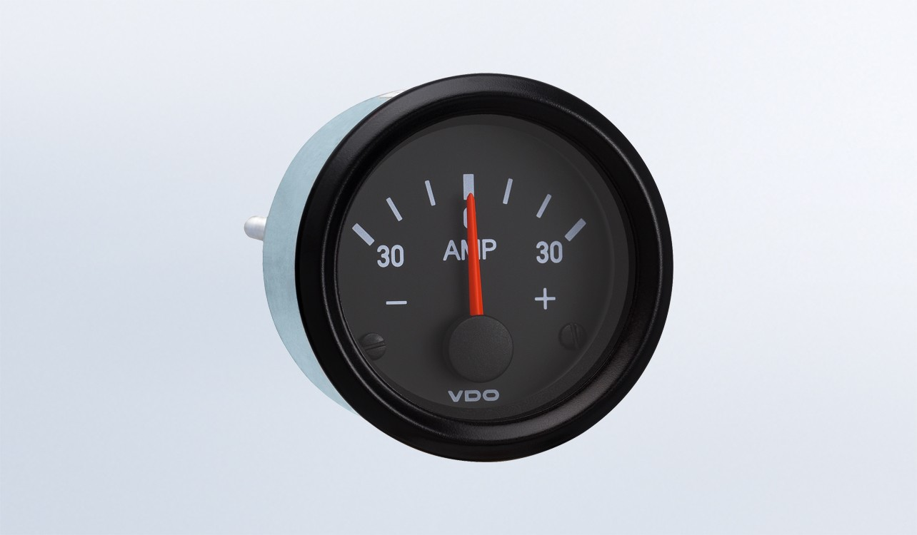 Cockpit International 30a Ammeter Does Not Require External Shunt Vdo Oil Pressure Wiring Diagrams 12v Instruments Displays And Clusters Accessories