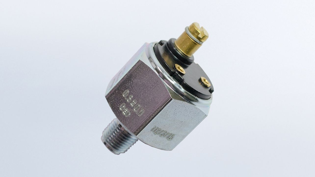 Pressure Switch, 14.5 PSI/1 bar, Contact Closes as Pressure Rises Earth, Ground M10x1