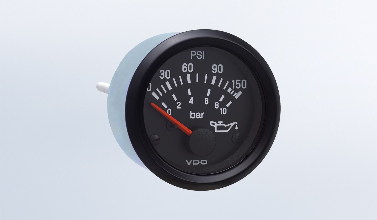 Cockpit International 150 Psi 10 Bar Oil Pressure Gauge Use With Vdo Senders Wiring Diagrams Sender 24v M4 Stud Connection By Series