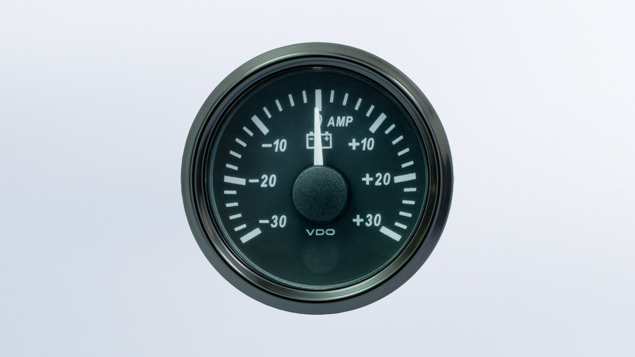 Singleviu 52mm J1939 30a Ammeter Gauge  Retail Pack With