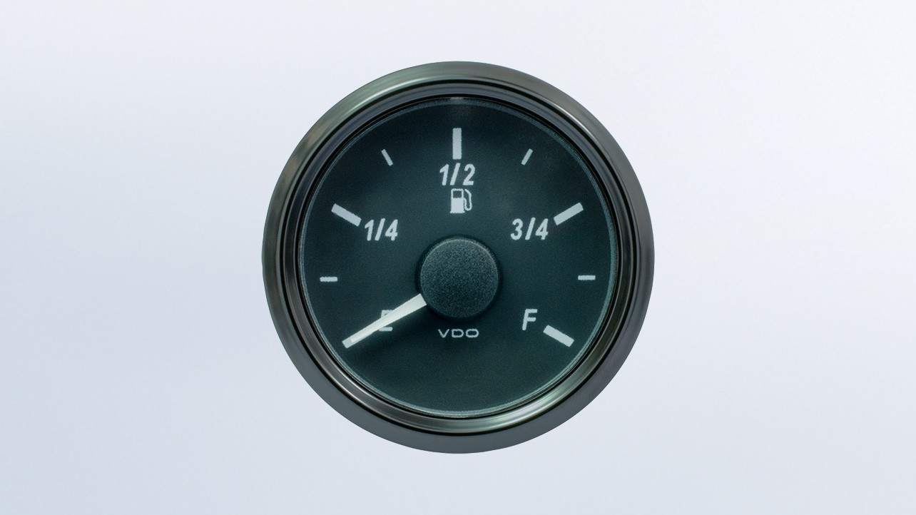SingleViu  52mm DEF level gauge. 0-5V sender required. Retail pack with harness