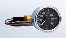 """Series 1 340°F Oil Temperature Gauge with 72"""" Capillary"""