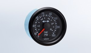 Cockpit International 150 PSI/10 bar Mechanical Air Pressure Gauge, 12V