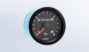 Vision Black 30 PSI Mechanical Boost Gauge, 12V