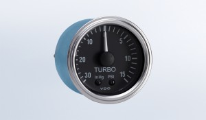 "Series 1 30"" HG-15 PSI Mechanical Turbo Gauge with Tubing Kit and US Thread Adapters"