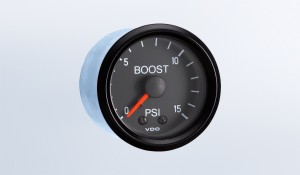 Cockpit 15 PSI Mechanical Boost Gauge with Tubing and US Thread Adapters
