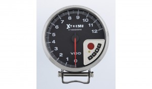 0-12K RPM Xtreme Performance Tachometer Silver with shift light, peak RPM recall and memory functions.