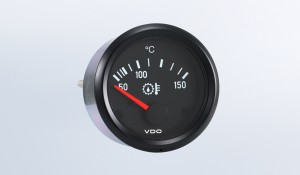 "Cockpit International 150°C  Gear Temperature Gauge, Use with VDO Sender, 12V, .250"" Spade Connection"