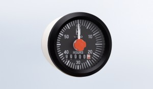 Cockpit International Hourmeter, 100K Hours, Non Illuminated, 12V, with minute hand