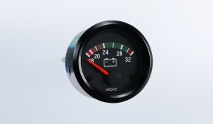"Cockpit International 24V Voltmeter, .250"" Spade Connection"
