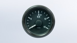 SingleViu  52mm 16bar brake pressure gauge.