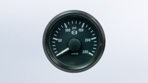 SingleViu 2 1/16in (52mm) 250psi brake pressure gauge.