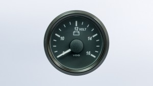 SingleViu  52mm J1939 voltmeter for 12V systems. Retail pack with harness