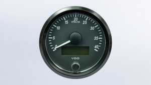 SingleViu  80mm 4000RPM tachometer.  Retail pack with harness