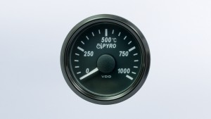 SingleViu  52mm J1939 1000°C exhaust gas temperature gauge.  Retail pack with harness