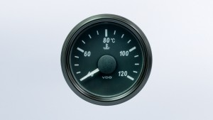 SingleViu  52mm J1939 120°C water temperature gauge.   Retail pack with harness