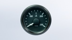 SingleViu  52mm 250°F water temperature gauge.