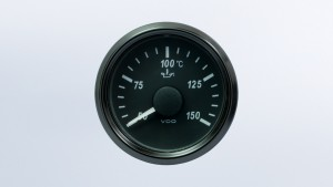 SingleViu 2 1/16in (52mm) 150°C water temperature gauge.