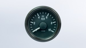 SingleViu  52mm 15bar brake  pressure gauge. 0-180 ohm sender required. Retail pack with harness