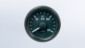 SingleViu 2 1/16in (52mm) 150psi brake  pressure gauge.
