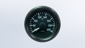 SingleViu  52mm 200°C cylinder temperature gauge.