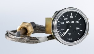 "Series 1 Industrial 265°F Water Temperature Gauge with 72"" Capillary"