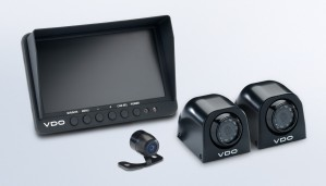 "7"" Quad Display with 2 Side Mount Cameras and a Rear View Mini with Parking Guide Lines"
