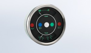 """356 Gauges """"356"""" 100mm Temperature & Fuel Gague with Warning Lights"""