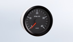 "Cockpit International 4,000 RPM 2 1/16"" (52mm) Tachometer, 12V, 400-1300Hz Alternator Signal"